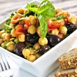 Vegetarian chickpea salad — Stock Photo