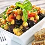 Vegetarian chickpea salad — Stock Photo