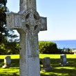 Graveyard with celtic cross — Stock Photo #4566021