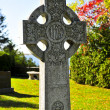 Graveyard with celtic cross — Stock Photo