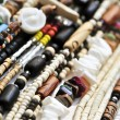 Wood and seashell bead necklaces — Stockfoto