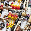 Stock Photo: Wood and seashell bead necklaces