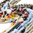 Wood and seashell bead necklaces — Foto de Stock