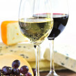 Wine and cheese — Foto Stock