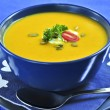 Pumpkin or squash soup — Stock Photo