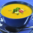 Pumpkin or squash soup - Stock Photo