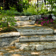 Natural stone steps — Stockfoto