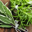 Bunches of fresh herbs — Stock Photo