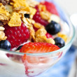 Yogurt with berries and granola — Stock Photo #4569690