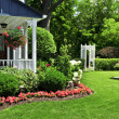 Stock Photo: Front yard of a house