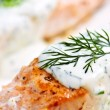 Cooked salmon - Foto de Stock