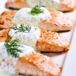 Cooked salmon - Foto Stock