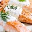 Cooked salmon — Foto de Stock