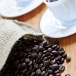Stock Photo: Coffee beans and espresso