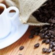 Coffee beans and espresso — Stock Photo