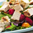 Green salad with grilled chicken - Stockfoto