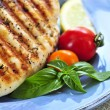 Grilled chicken breasts - Stock Photo