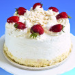 Strawberry meringue cake — Stok fotoğraf