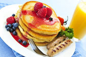Pancakes breakfast — Stock Photo