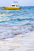 Waves breaking on tropical shore — Stock Photo
