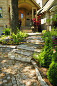 Natural stone steps — Stock Photo
