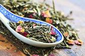 Loose green tea — Stock Photo