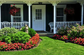 Front yard of a house — Foto Stock
