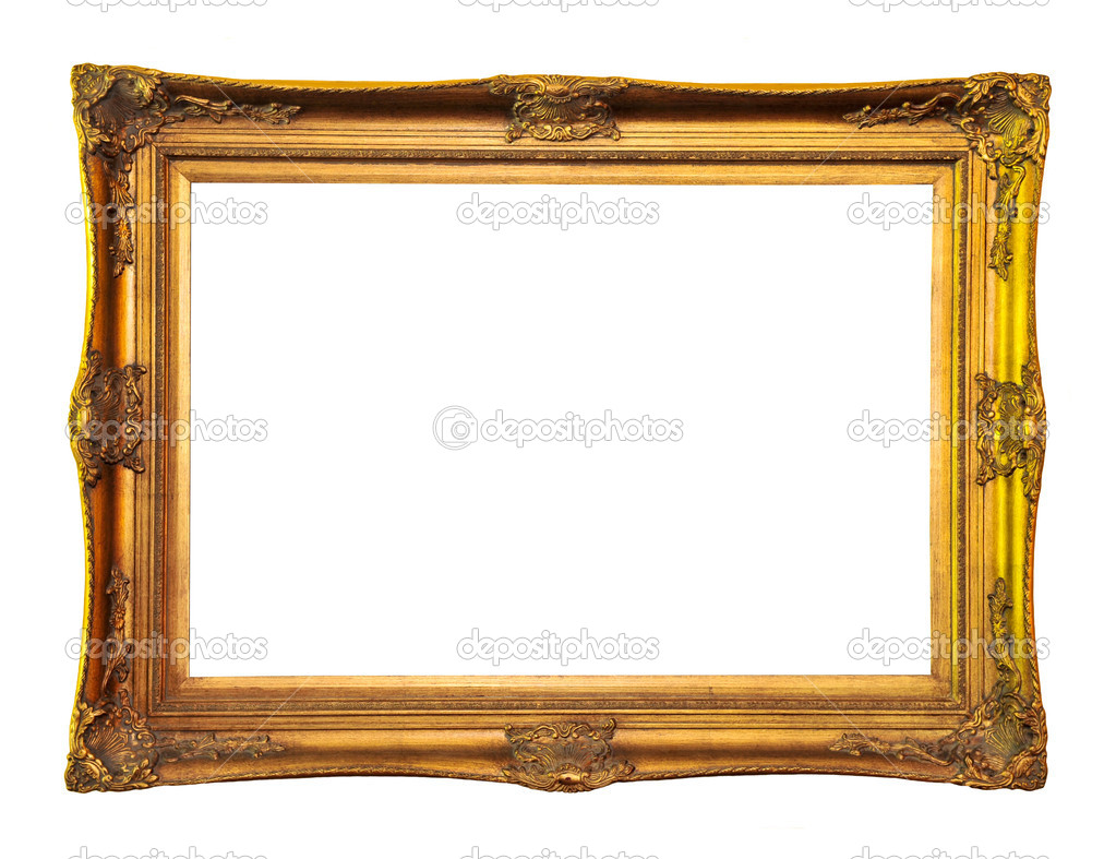 Empty picture frame isolated on white background — Photo #4565303