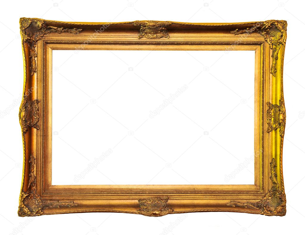 Empty picture frame isolated on white background  Stock Photo #4565303