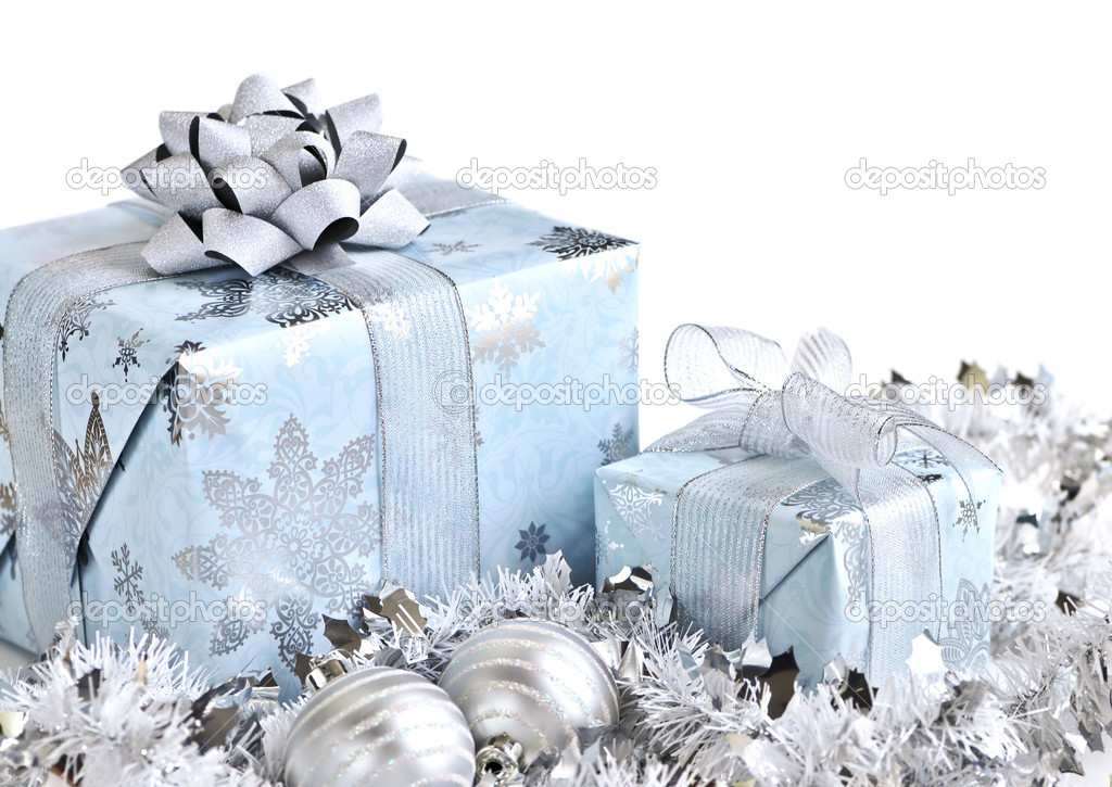 Christmas Gift Wrapped Boxes Wrapped Gift Boxes With Silver