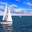 Sailboats at sea — Foto de Stock