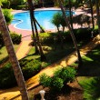Stok fotoğraf: Garden landscaping at tropical resort