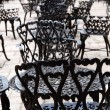 Wrought iron furniture — Stock Photo