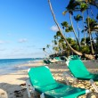 Sandy beach of tropical resort — Stock Photo #4635851