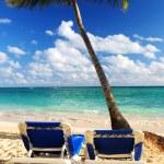 Sandy beach of tropical resort — Stock Photo #4635890