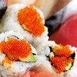 Sushi and california rolls — Stock Photo #4636246