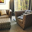 Armchairs with ottoman - Foto de Stock