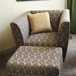 Armchair with ottoman — Stock Photo
