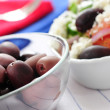 Olives and greek salad — Stock Photo #4636685