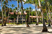Hotel at tropical resort — Stock Photo