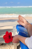 Relaxing on a beach — Stock Photo