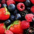 Assorted fresh berries — Foto de Stock