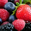 Assorted fresh berries - Stock Photo