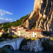 Town of Sisteron in Provence France - Stock Photo
