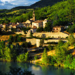 Town of Sisteron in Provence, France - Stock Photo