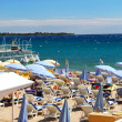 Beach in Cannes, France - Stock Photo