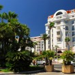 Croisette promenade in Cannes - Stock Photo