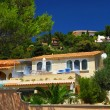 Gardens and villas on French Riviera - Stock Photo