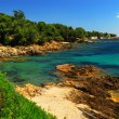 Mediterranean coast of French Riviera — Stock Photo