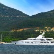 Stock Photo: Luxury yacht at the coast of French Riviera